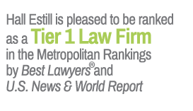 Hall Estill is pleased to be ranked as a Tier 1 Law Firm in the Metropolitan Rankings by Best Lawyers and U.S. News & World Report